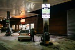 AGIP Benzynowa stacja w Francja Obraz Royalty Free