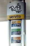Agip gas station prices Stock Photography