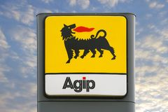 Agip logo Fotografia Royalty Free
