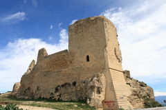 Agira castle. Castle of Agira, little town in Sicily Royalty Free Stock Image