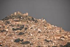 agira średniowieczny Sicily miasteczko Zdjęcie Royalty Free