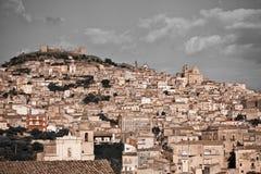 agira średniowieczny Sicily miasteczko Obrazy Stock