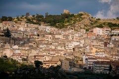 agira średniowieczny Sicily miasteczko Fotografia Stock