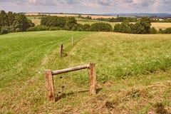 Agircutural krajobraz z wzgórzami Obrazy Royalty Free