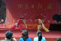 Agire cinese di kung-fu immagini stock