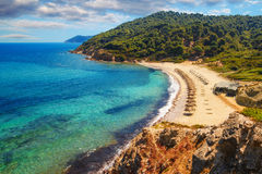 Agistros beach, Skiathos, Greece royalty free stock image