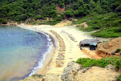 Agistros plaża, Skiathos, Grecja Zdjęcie Royalty Free