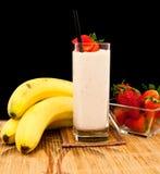Agitação da banana Fotos de Stock Royalty Free