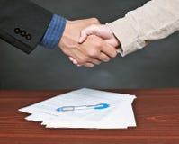 Agitação da mão. Foto de Stock Royalty Free