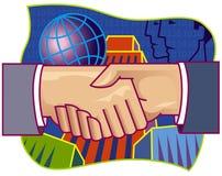 Agitação da mão da parceria ilustração do vetor