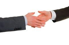 Agitação da mão dos homens de negócios Fotos de Stock