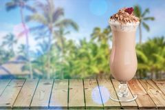 Agitação de leite imagens de stock royalty free