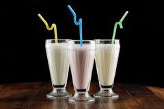 Agitação de leite & x28; cocktail& x29; Foto de Stock Royalty Free