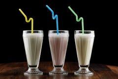 Agitação de leite & x28; cocktail& x29; Fotografia de Stock Royalty Free