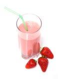 Agitação de leite da morango foto de stock royalty free
