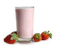 Agitação de leite da morango Fotos de Stock Royalty Free