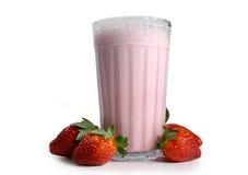 Agitação de leite da morango Imagens de Stock Royalty Free