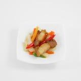 Agitação tailandesa a carne de porco friável fritada Fotografia de Stock Royalty Free