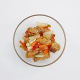 Agitação tailandesa a carne de porco friável fritada Imagem de Stock