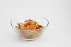 Agitação tailandesa a carne de porco friável fritada Foto de Stock