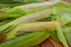Agita o milho novo fresco na tabela Imagens de Stock Royalty Free