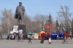 Agitacja dla zjednoczenia z Rosja w Donetsk. Ukraina Zdjęcia Royalty Free