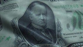 Agitado quinientos dólares Bill United State Banknotes Obverse metrajes