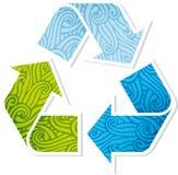 Agitado reciclando símbolo Fotos de archivo libres de regalías