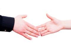 Agitando as mãos Fotografia de Stock Royalty Free