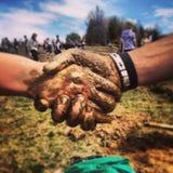 Agitando as mãos após a plantação Foto de Stock Royalty Free