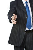 Agitação da mão do homem de negócio Fotografia de Stock