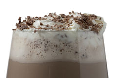 Agitação de leite de chocolate Fotografia de Stock Royalty Free