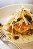 Agitar-e-coza a galinha fritada Imagem de Stock
