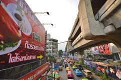 Agitarsi Bangkok immagini stock