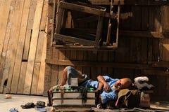 Agitarsi via in India fotografie stock libere da diritti