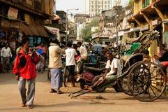 Agitarsi via in India fotografia stock libera da diritti
