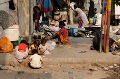 Agitarsi via in India fotografia stock