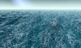 Agitated Ocean. Heavily agitated deep ocean surface Royalty Free Stock Photography
