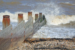 The Agitated Sea. This photo shows a very agitated sea Stock Images