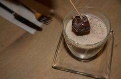 Agitateur belge de boissons de chocolat chaud Photo stock