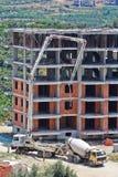 agitateur de la Concret-livraison et camion de pompe concrète Photos stock