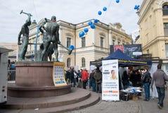 Agitation pour des candidats avant l'élection Photo libre de droits