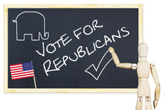Agitator encourages to vote for Republicans in US elections Royalty Free Stock Photography