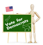 Agitator encourages vote for Democrats in US elections Royalty Free Stock Photography