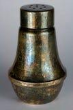 Agitatore di sale d'argento appannato fotografia stock