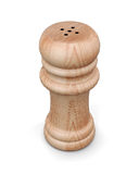 Agitatore o pepe di sale di legno isolato rappresentazione 3d illustrazione di stock