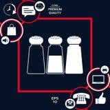 Agitatori del pepe o del sale - insieme Immagine Stock Libera da Diritti