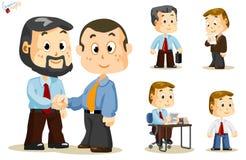 Agitazione della mano. Gente di affari illustrazione di stock