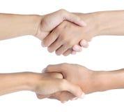 Agitazione della mano nell'angolo differente due Fotografie Stock