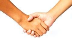 Agitazione delle mani Immagini Stock Libere da Diritti